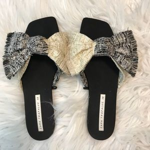 Zara bow slides